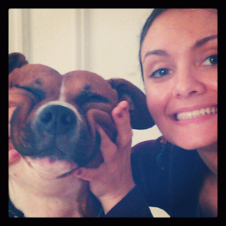 {cristiana and her pup}
