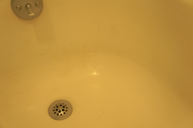 {the tub: before}